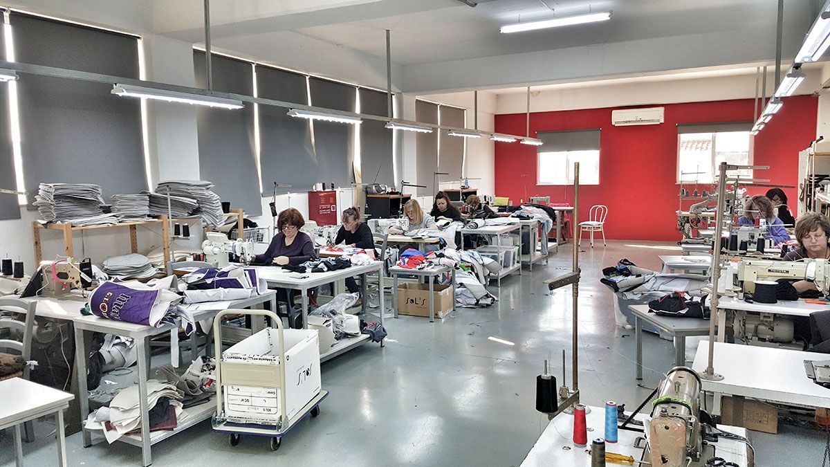 Anthrax sewing room